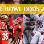 Georgia Bulldogs vs Oklahoma Sooners – Rose Bowl Predictions, Picks, Odds and Betting Preview – January 1 2018