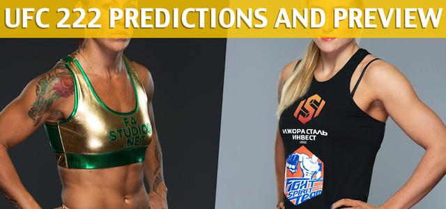 UFC 222: Yana Kunitskaya vs Cris Cyborg Predictions and Preview