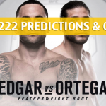UFC 222 Predictions, Odds, and Betting Preview – Brian Ortega vs Frankie Edgar