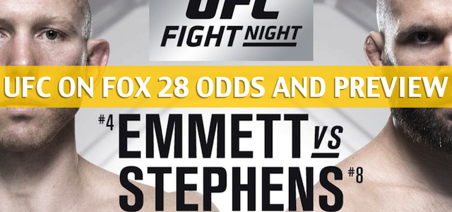 UFC on Fox 28: Josh Emmet vs Jeremy Stephens Predictions, Odds, Picks, and Betting Preview
