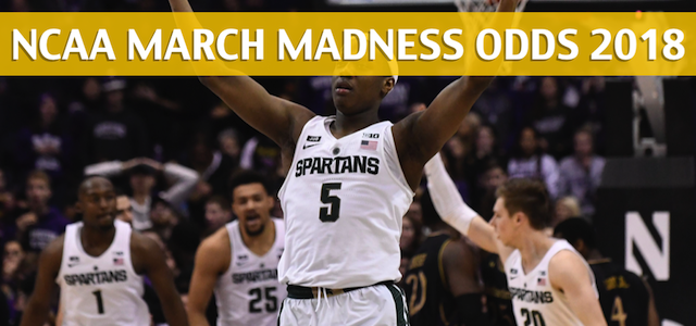 Bucknell Bison vs Michigan State Spartans Predictions, Picks, Odds, and NCAA Basketball Betting Preview – 2018 March Madness Round 1