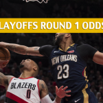 Portland Trail Blazers vs New Orleans Pelicans Predictions, Picks, Odds and Betting Preview  – NBA Playoffs Round 1 Game 3 – April 19 2018