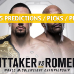 UFC 225 Predictions, Picks, Odds, and Betting Preview - Whittaker vs Romero 2 - June 9 2018