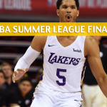 Portland Trail Blazers vs Los Angeles Lakers Predictions, Picks, Odds, and Betting Preview - 2018 NBA Summer League Final