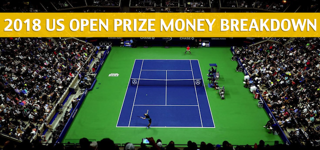 2018 US Open Tennis Purse and Prize Money Breakdown