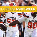 Buffalo Bills vs Cleveland Browns Predictions, Picks, Odds and Betting Preview - NFL Preseason Week 3 - August 17, 2018
