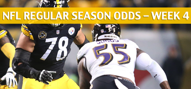 Baltimore Ravens vs Pittsburgh Steelers Predictions, Picks, Odds and Betting Preview – NFL Week 4 – September 30 2018