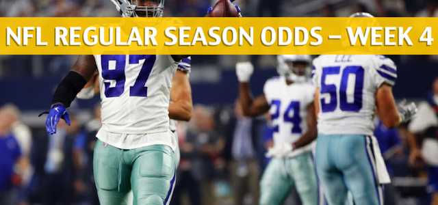 Detroit Lions vs Dallas Cowboys Predictions, Picks, Odds and Betting Preview – NFL Week 4 – September 30 2018