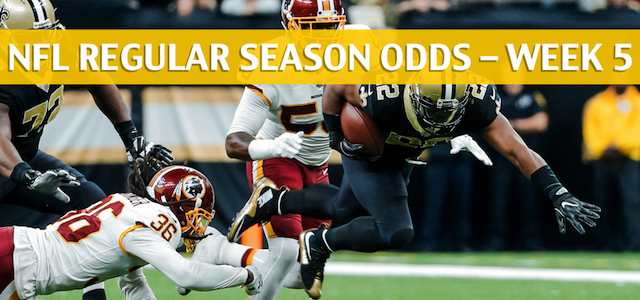 Washington Redskins vs New Orleans Saints Predictions, Picks, Odds and Betting Preview – NFL Week 5 – October 8 2018