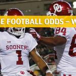 Kansas Jayhawks vs Oklahoma Sooners Predictions, Picks, Odds and NCAA Football Betting Preview - November 17 2018