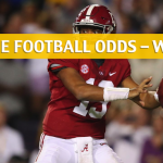 The Citadel Bulldogs vs Alabama Crimson Tide Predictions, Picks, Odds and NCAA Football Betting Preview – November 17 2018
