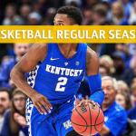 Kentucky Wildcats vs Alabama Crimson Tide Predictions, Picks, Odds, and NCAA Basketball Betting Preview - January 5 2019