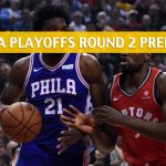Philadelphia 76ers vs Toronto Raptors Predictions, Picks, Odds, and NBA Basketball Betting Preview – Eastern Conference Playoffs Round 2 Game 1 – April 27 2019