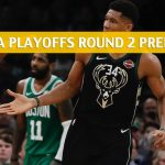Milwaukee Bucks vs Boston Celtics Predictions, Picks, Odds, and NBA Basketball Betting Preview – Eastern Conference Playoffs Round 2 Game 3 – May 3 2019