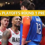 Portland Trail Blazers vs Oklahoma City Thunder Predictions, Picks, Odds, and NBA Basketball Betting Preview - Western Conference Playoffs Round 1 Game 4 - April 21 2019