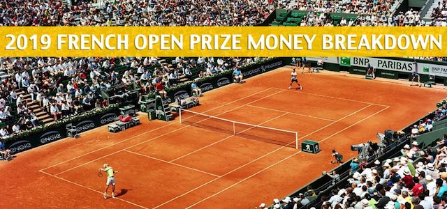 2019 French Open Purse and Prize Money Breakdown