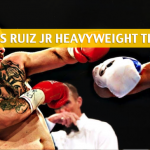 Anthony Joshua vs Andy Ruiz Jr Predictions, Picks, Odds and Betting Preview - IBF/WBA/WBO Heavyweight Title Bout - June 1 2019