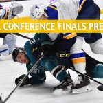 St Louis Blues vs San Jose Sharks Predictions, Picks, Odds, Betting Preview - NHL Playoffs Western Conference Final Game 2 - May 13 2019