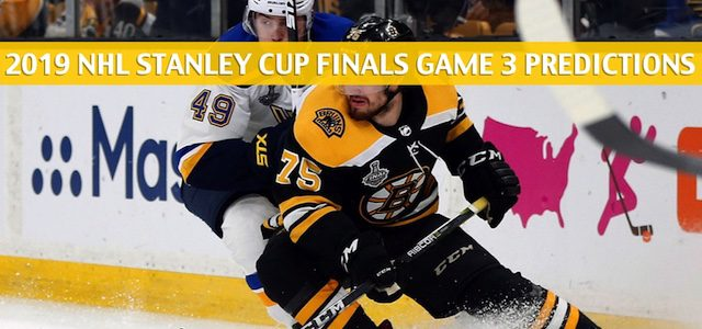 Boston Bruins vs St Louis Blues Predictions, Picks, Odds, Betting Preview – NHL Playoffs NHL Playoffs Stanley Cup Finals Game 3 – June 1 2019
