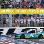 2019 Pocono 400 Predictions, Picks, Odds, and Betting Preview - NASCAR Monster Energy Cup Series Race - June 2 2019