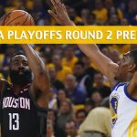 Houston Rockets vs Golden State Warriors Predictions, Picks, Odds, and NBA Basketball Betting Preview - Western Conference Playoffs Round 2 Game 5 - May 8 2019