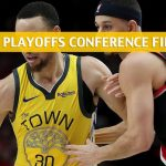 Golden State Warriors vs Portland Trail Blazers Predictions, Picks, Odds, and Betting Preview - NBA Playoffs Western Conference Finals Game 4 - May 20 2019