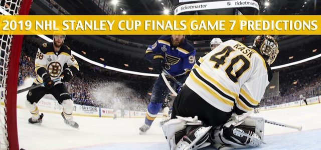 St Louis Blues vs Boston Bruins Predictions, Picks, Odds, Betting Preview – NHL Stanley Cup Finals Game 7 – June 12 2019