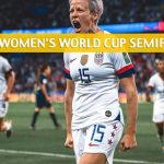 England vs USA Predictions, Picks, Odds, and Betting Preview - FIFA Women's World Cup Semifinal - July 2 2019