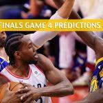 Toronto Raptors vs Golden State Warriors Predictions, Picks, Odds, And Betting Preview - NBA Finals Game 4 -June 7 2019