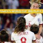 England vs Sweden Predictions, Picks, Odds, and Betting Preview - FIFA Women's World Cup Third Place Match on July 6 2019