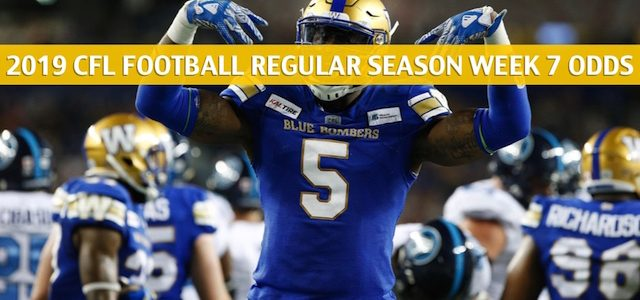 Winnipeg Blue Bombers vs Hamilton Tiger Cats Predictions, Picks, Odds, Preview – CFL Week 7 – July 26 2019