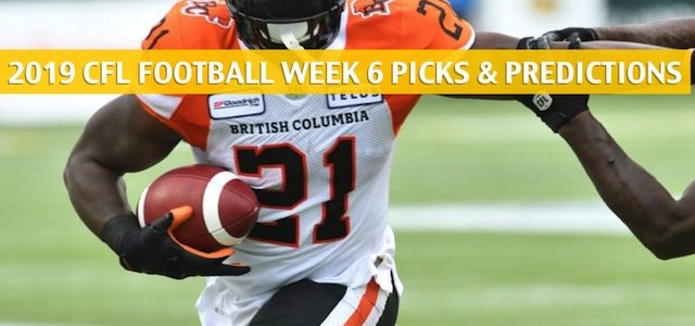 BC Lions vs Saskatchewan Roughriders Predictions, Picks, Odds, Preview – CFL Week 6 – July 20 2019