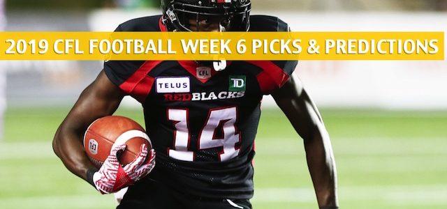 Ottawa Redblacks vs Winnipeg Blue Bombers Predictions, Picks, Odds, Preview – CFL Week 6 – July 19 2019