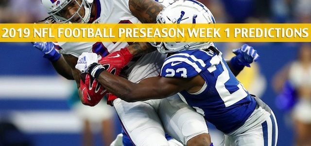 Indianapolis Colts vs Buffalo Bills Predictions, Picks, Odds, and Betting Preview – NFL Preseason Week 1 – August 8 2019