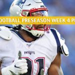 New York Giants vs New England Patriots Predictions, Picks, Odds, and Betting Preview - NFL Preseason Week 4 - August 29 2019