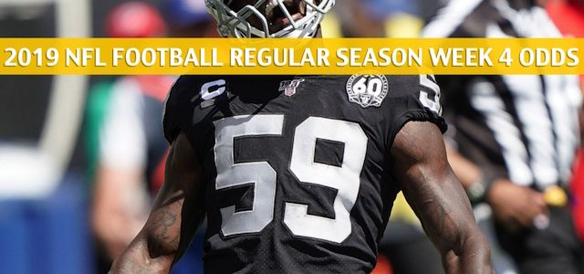 Oakland Raiders vs Indianapolis Colts Predictions, Picks, Odds, and Betting Preview – NFL Week 4 – September 29 2019