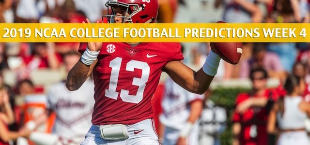 Southern Mississippi Golden Eagles vs Alabama Crimson Tide Predictions, Picks, Odds, and NCAA Football Betting Preview – September 21 2019