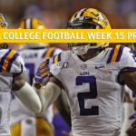 Georgia BulldogsvsLSU TigersPredictions, Picks, Odds, and NCAA Football Betting Preview -December 72019
