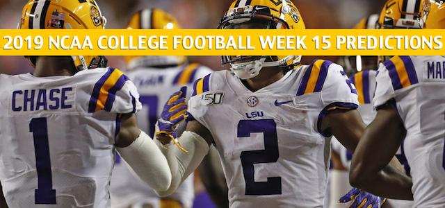 Georgia BulldogsvsLSU TigersPredictions, Picks, Odds, and NCAA Football Betting Preview –December 72019