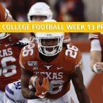 Texas Longhorns vs Baylor Bears Predictions, Picks, Odds, and NCAA Football Betting Preview - November 23 2019