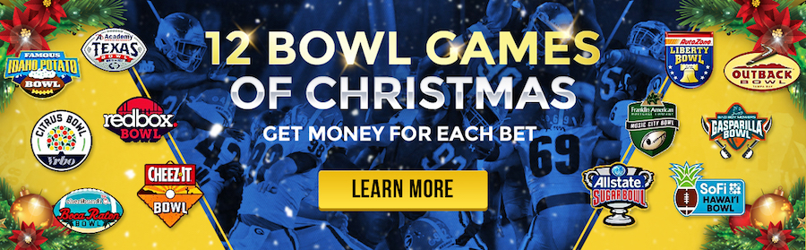 Sportsbook Christmas Promo NCAAF Bowls