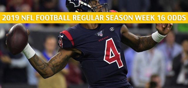 Houston Texans vs Tampa Bay Buccaneers Predictions, Picks, Odds, and Betting Preview – NFL Week 16 – December 21 2019