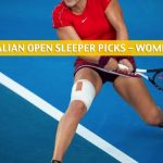 2020 Australian Open Sleepers / Sleeper Picks and Predictions - Women's Singles