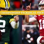 Green Bay Packers vs San Francisco 49ers Predictions, Picks, Odds, and Betting Preview - NFL NFC Conference Championship - January 19 2020