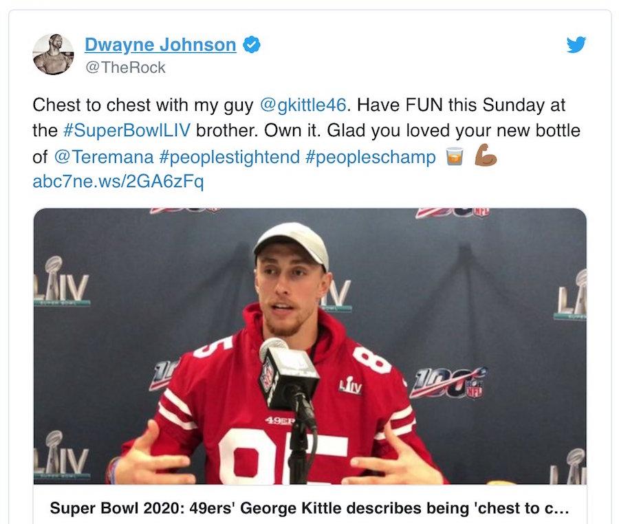 Celebrity Super Bowl Picks 2020 The Rock