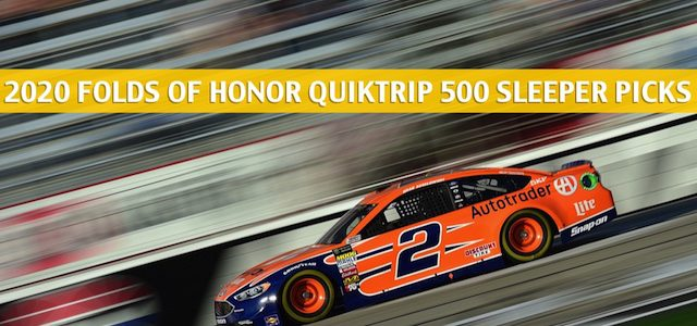 2020 Folds of Honor QuikTrip 500 Sleepers and Sleeper Picks and Predictions