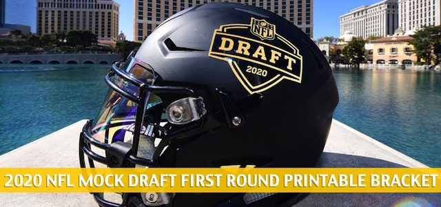Printable NFL Mock Draft Bracket 2020