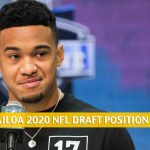 Tua Tagovailoa Odds - 2020 NFL Draft Pick Prediction and Projection