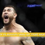 Blagoy Ivanov vs Augusto Sakai Predictions, Picks, Odds, and Betting Preview | UFC Fight Night May 30 2020