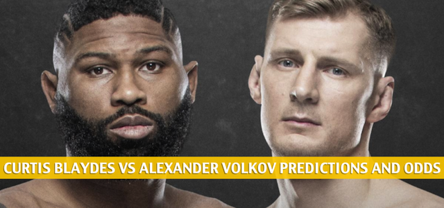 Curtis Blaydes vs Alexander Volkov Predictions, Picks, Odds and Betting Preview | UFC Fight Night – June 20 2020